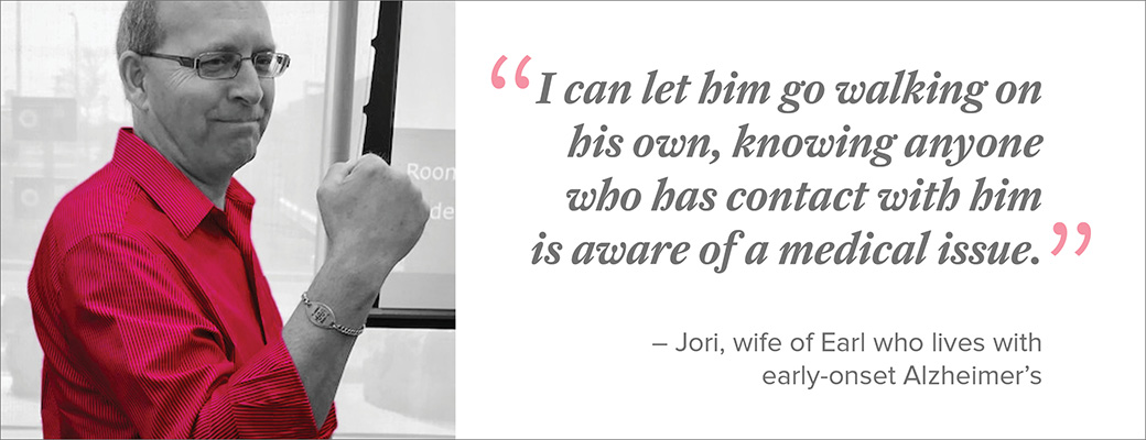 Jori depends on MedicAlert to protect her husband of nearly 30 years.