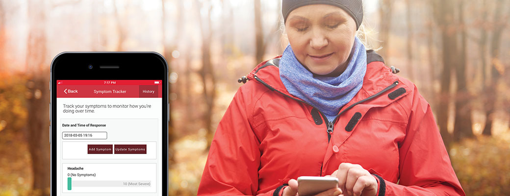 Track your Symptoms using the My MedicAlert app