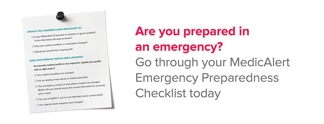 Your MedicAlert Emergency Checklist