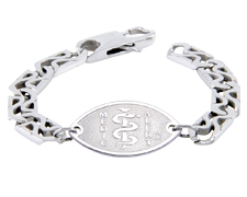 Double S-Link Surgical Steel Bracelet - Small Emblem