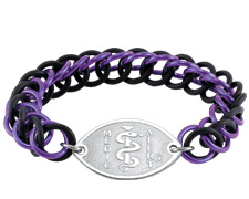 Urban Links Bracelet - Purple