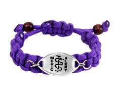 Purple Paracord Bracelet