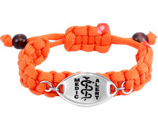 Orange Paracord Bracelet