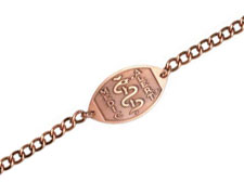 Copper Bracelet - Large Emblem