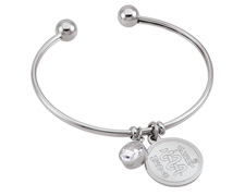 "STEELX ""A Dash of Charm"" Bangle"
