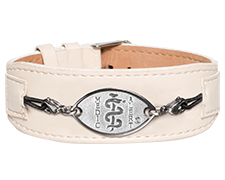 Premium Comfort Leather Band - Cream