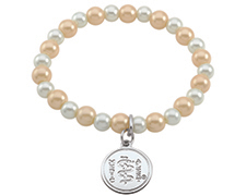 Crystal Pearl Bracelet - Golden Light