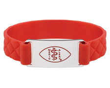 Premier Active Red Silicone Band - Shiny Emblem