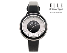 Solar ELLE Time Watch - Black