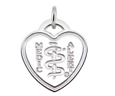 Sterling Silver Heart Medallion