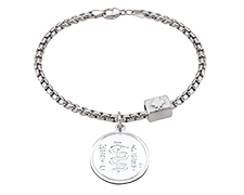 Sterling Silver Bracelet with Canada Bead