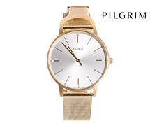 Pilgrim Gold Plated Mesh Watch