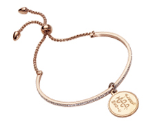 STEELX Crystal Adjustable Bolo Bracelet - Rose Gold