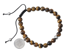 STEELX Tiger Eye Beaded Bracelet