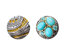 2pk  Snaps -Turquoise + Amber