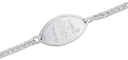 Sterling Silver Bracelet (Small Polished Emblem)