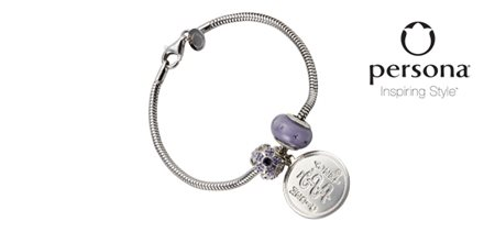 Snake Chain Bracelet with Purple Flower and Oval Beads