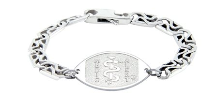 Double S-Link Surgical Steel Bracelet - Large Emblem