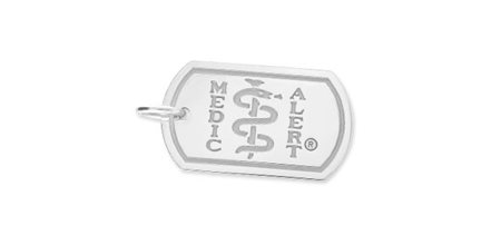 London Dog Tag Medallion - Polished