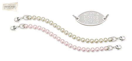 Cream Rose and Rosaline Pearl Bracelet Combo