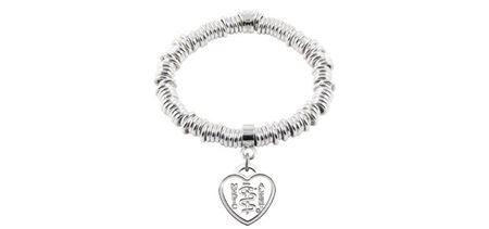 Infinity Links with Heart Medallion